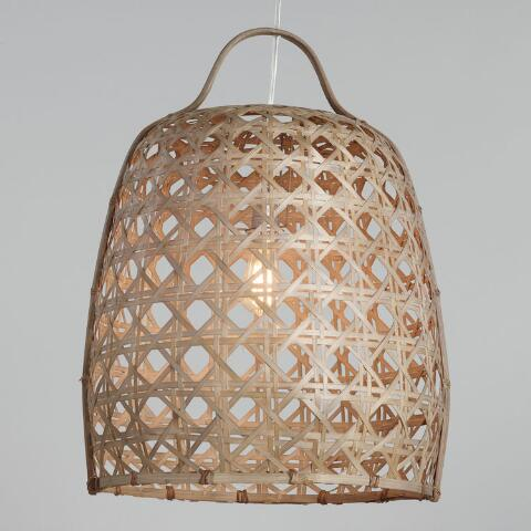 Woven Bamboo Cane Basket Pendant Lamp Previous V4 V1