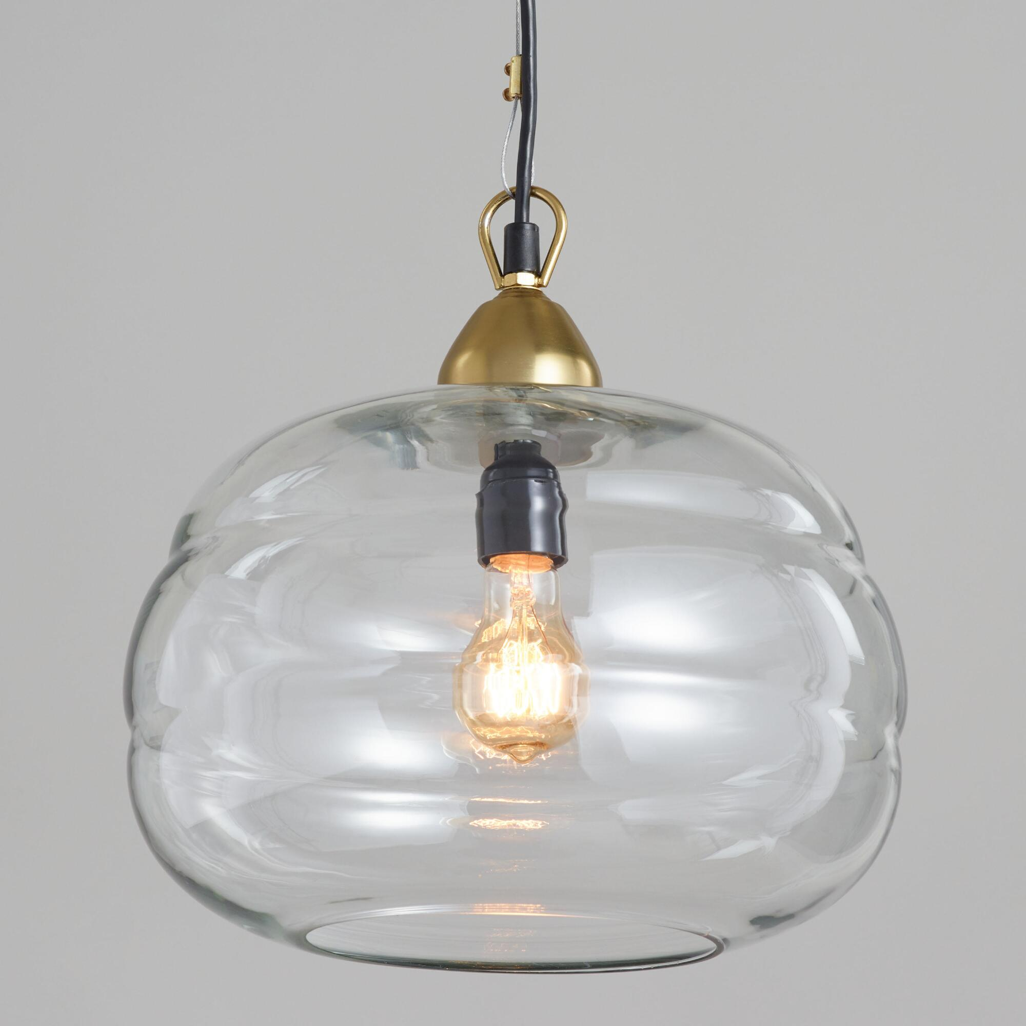 Clear Glass Dome Pendant Lamp by World Market