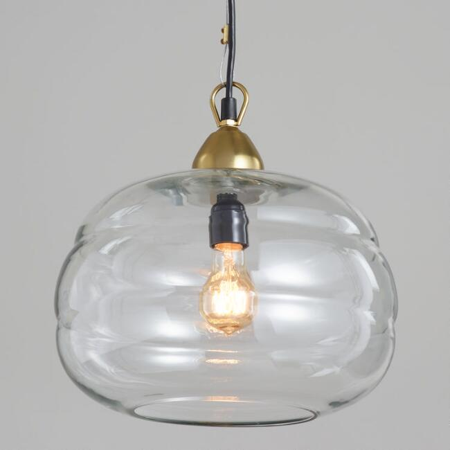 Clear Glass Dome Pendant Lamp