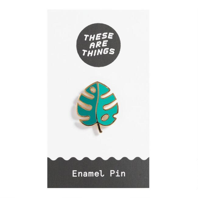 Palm Leaf Enamel Pin