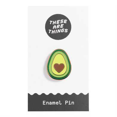 Avocado Heart Enamel Pin
