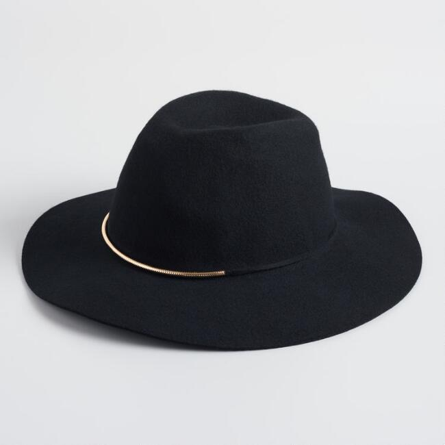 Black And Gold Trim Rancher Hat