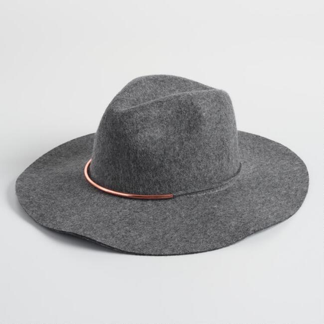 Gray And Rose Gold Rancher Hat
