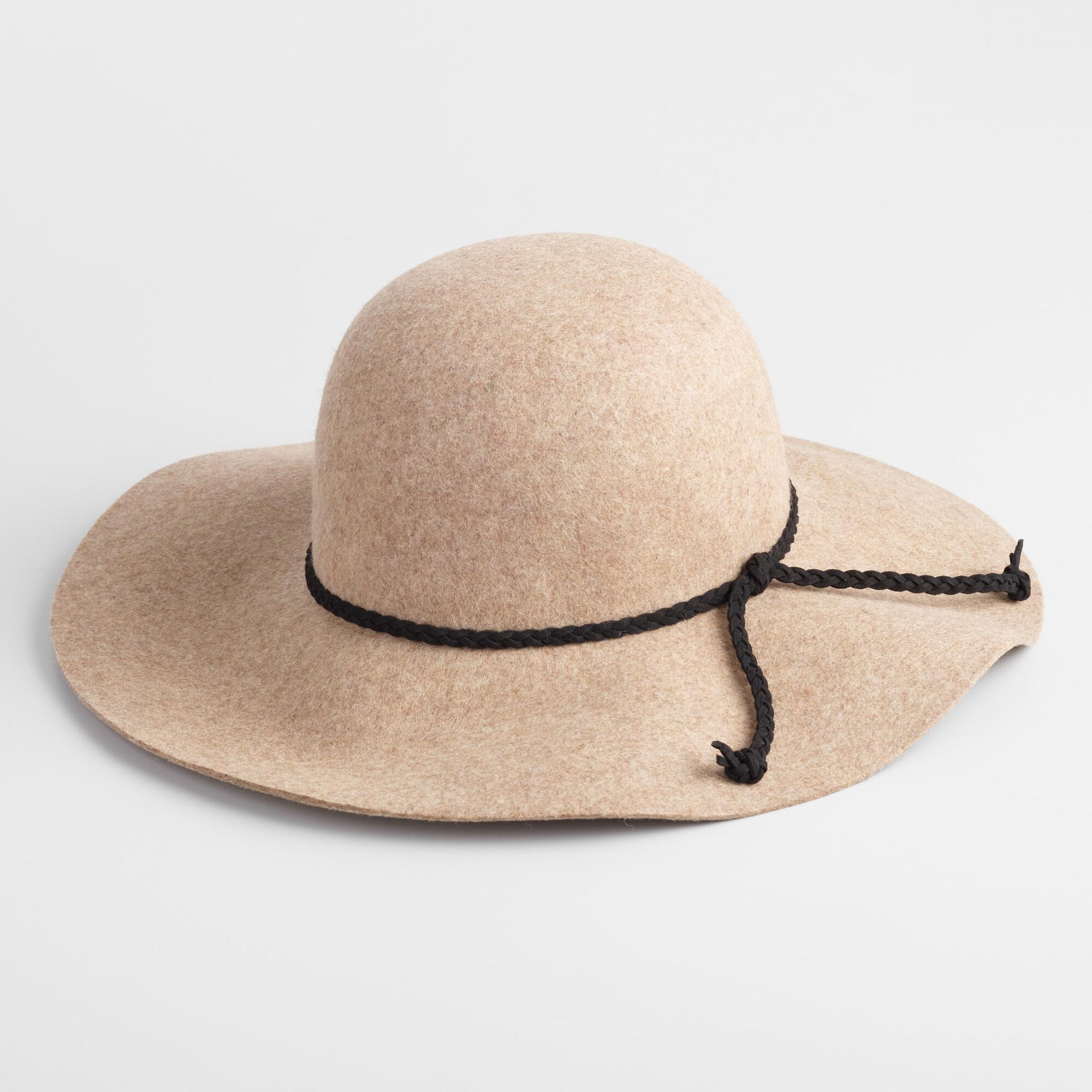 Women's Vintage Hats   Old Fashioned Hats   Retro Hats Oatmeal Wool Floppy Hat by World Market $24.99 AT vintagedancer.com
