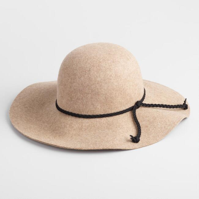 Oatmeal Wool Floppy Hat