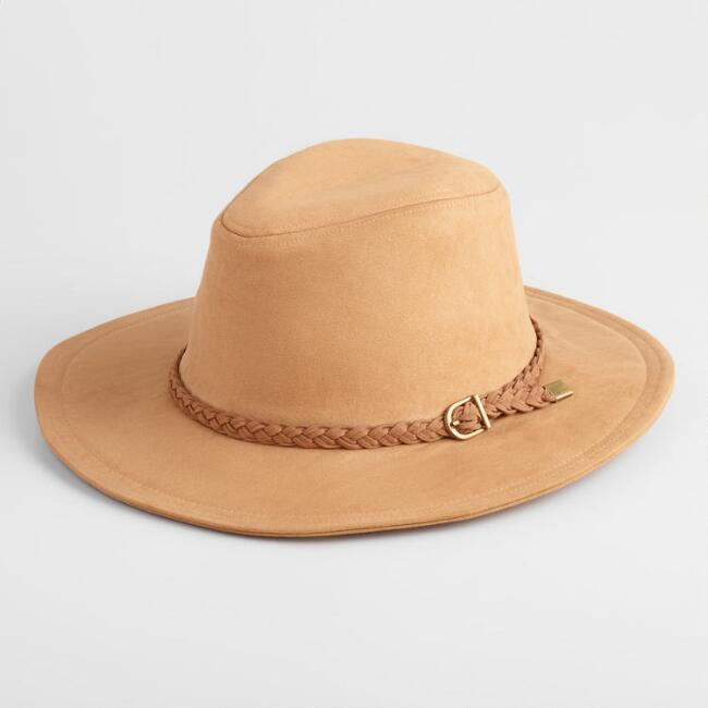 Tan Faux Suede Rancher