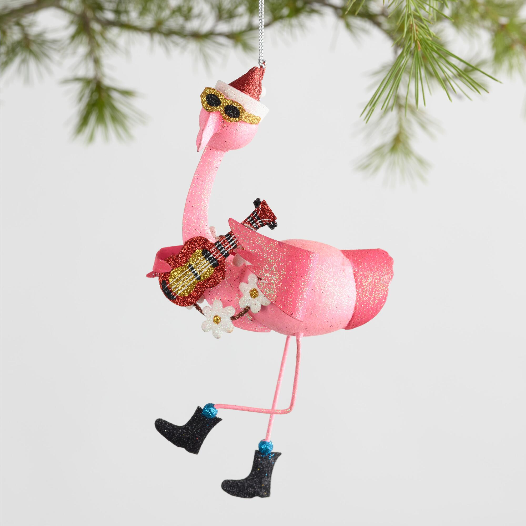 Metal Musical Flamingo Ornaments Set of 3 by World Market