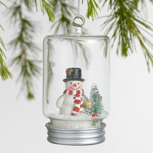 Retro Glass Canning Jar Cloche Ornaments Set of 3
