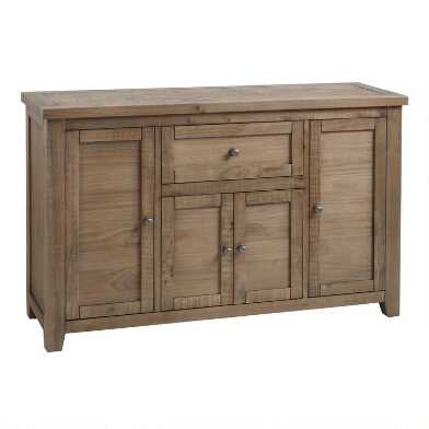 Gray Pine Wood Lisette Storage Cabinet