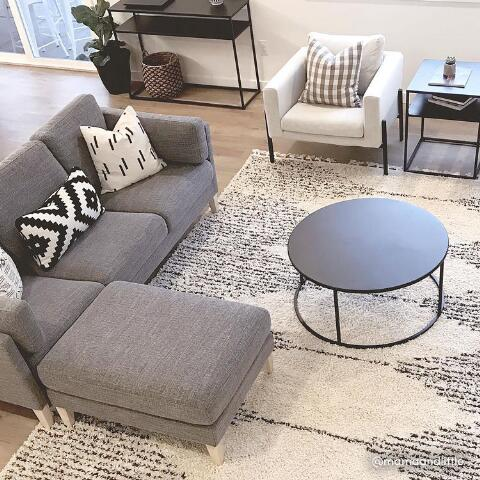 Admirable Graphite Woven Noelle Sofa And Ottoman Pabps2019 Chair Design Images Pabps2019Com