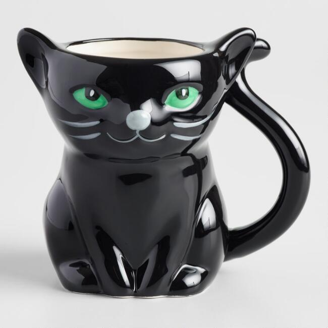 Black Cat Figure Mug