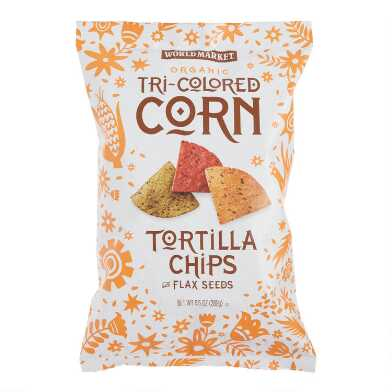 World Market? Organic Tri-Colored Tortilla Chips Set of 12