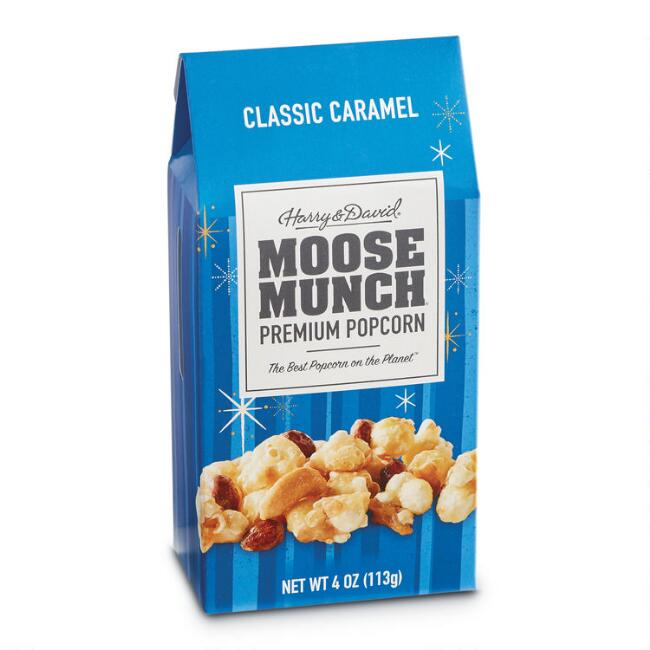 Harry & David Caramel Moose Munch Popcorn Set of 6