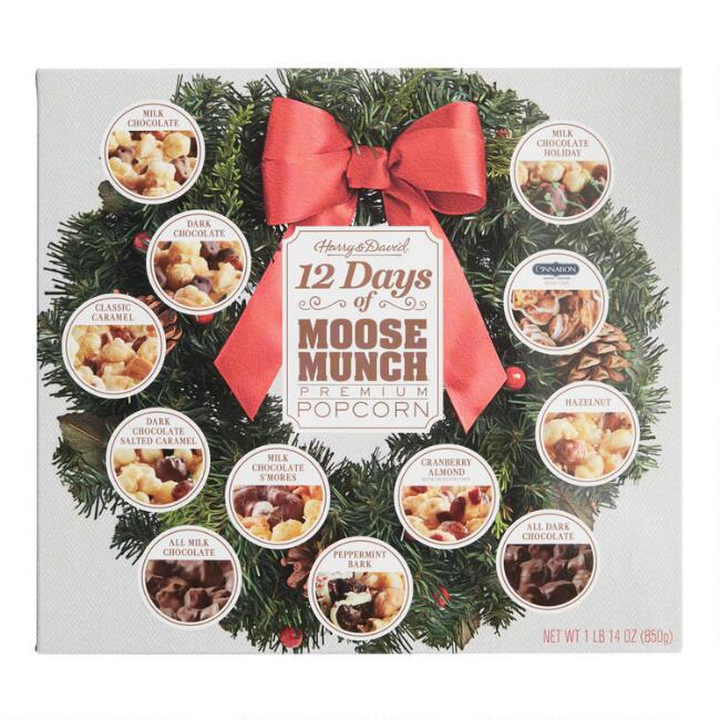 Harry & David 12 Days of Moose Munch Popcorn