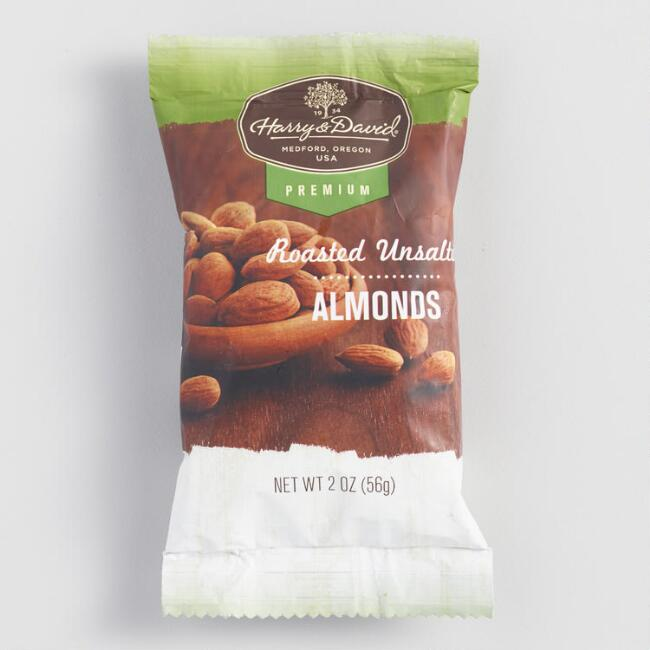 Harry & David Unsalted Almonds Snack Size