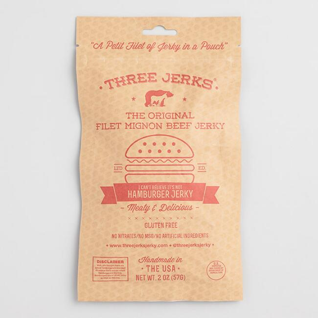 Three Jerks Hamburger Filet Mignon Beef Jerky