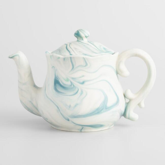Green Marble Teapot by World Market