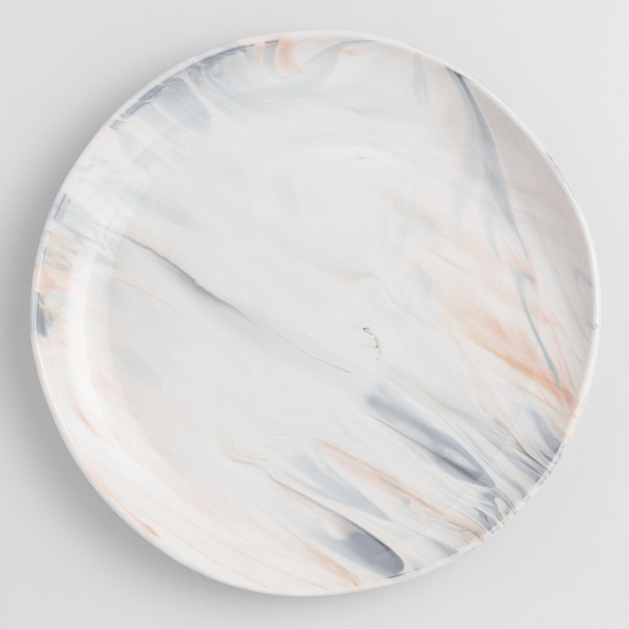 Gray And Tan Marble Dinner Plates Set Of 4 by World Market