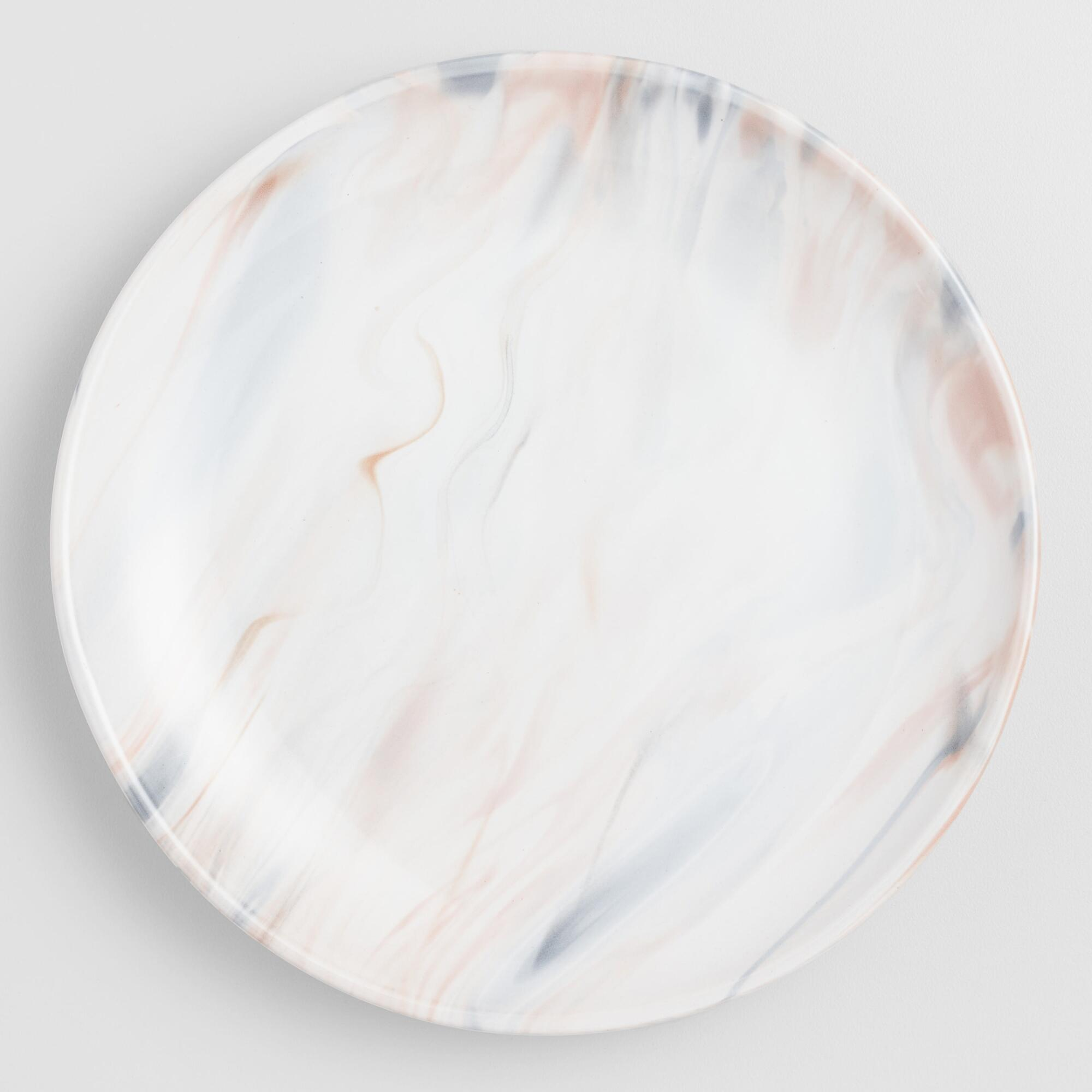 Gray And Tan Marble Salad Plates Set Of 4 by World Market