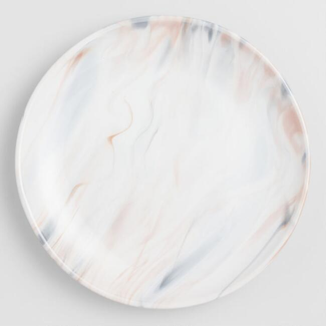 Gray And Tan Marble Salad Plates Set Of 4