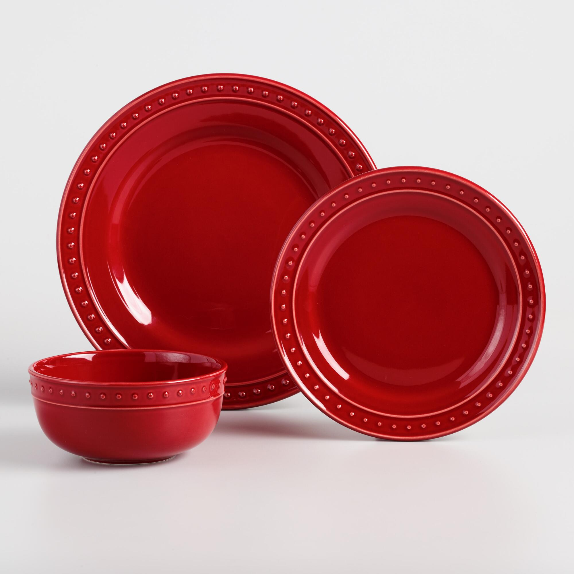 Red Nantucket Dinnerware Collection by World Market