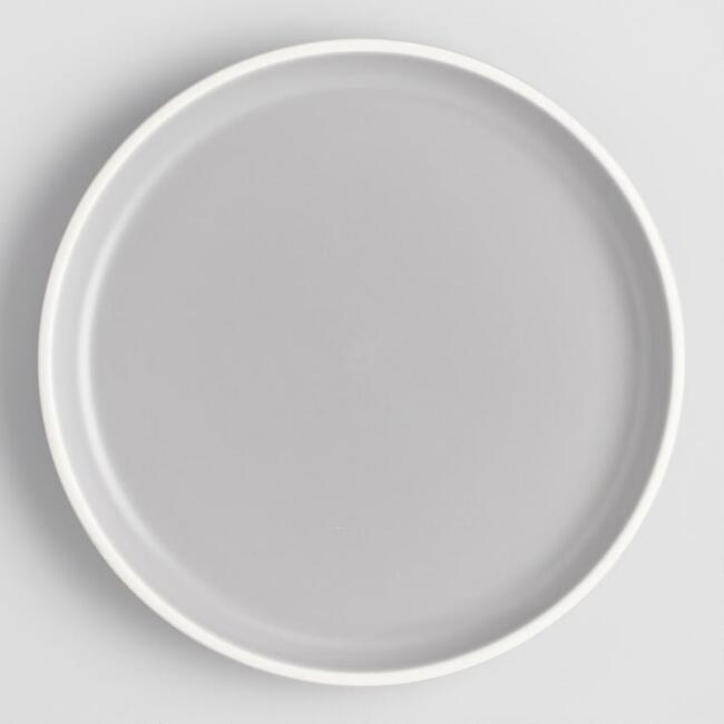 Gray And White Matte Brinley Dinner Plates Set Of 4