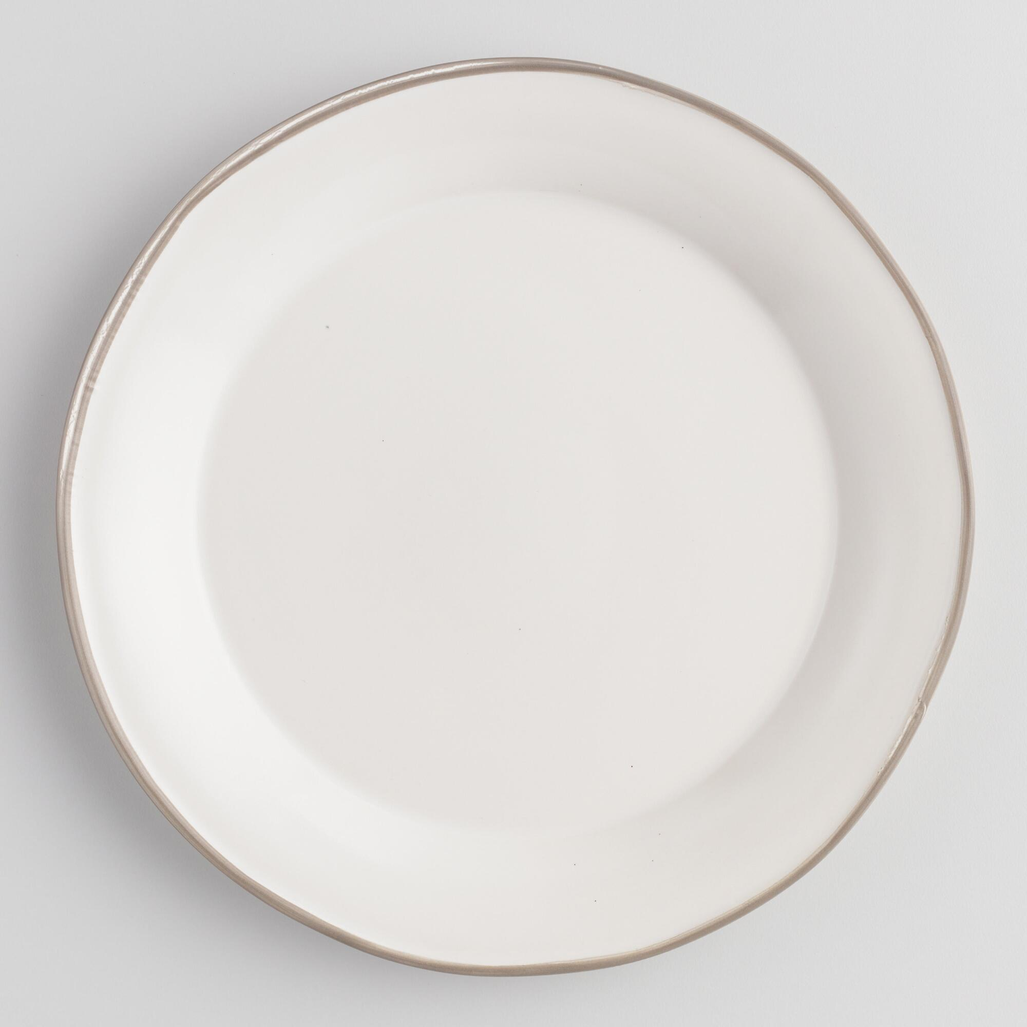 Rustic White And Gray Fatima Dinner Plates Set Of 4 by World Market