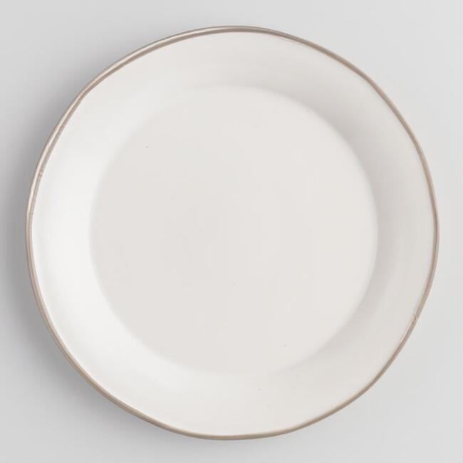 Rustic White And Gray Fatima Dinner Plates Set Of 4