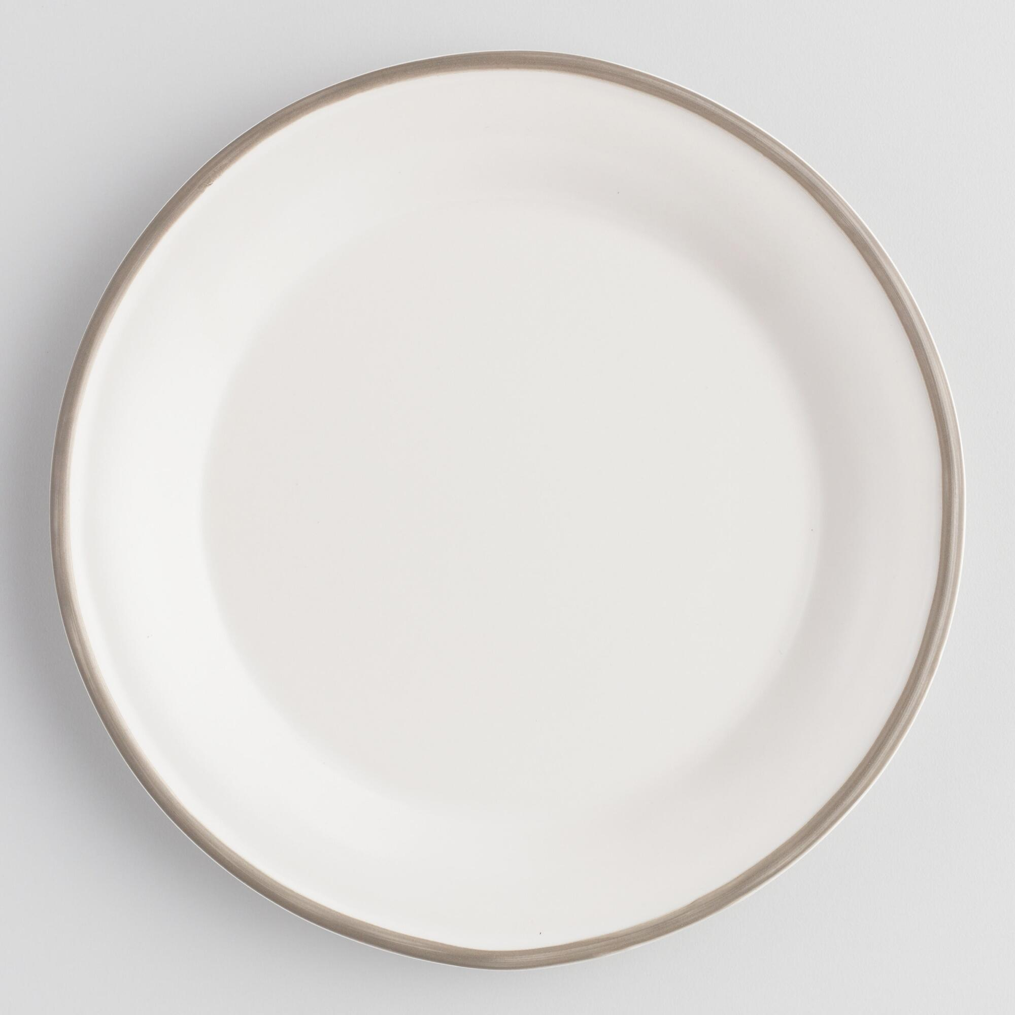Rustic White And Gray Fatima Salad Plates Set Of 4 by World Market