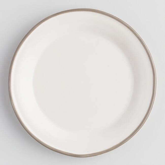 Rustic White And Gray Fatima Salad Plates Set Of 4