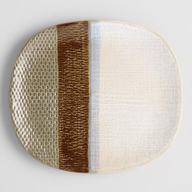 Mini Burlap Textured Platter