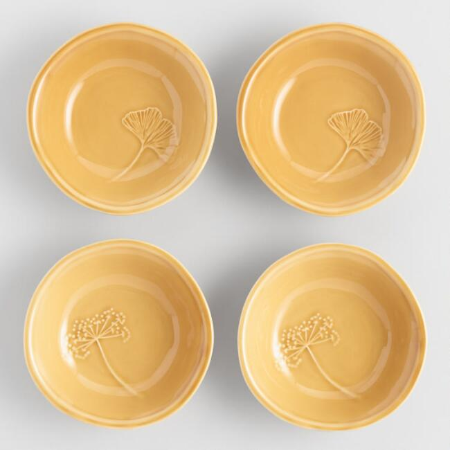 Fall Leaves Dipping Bowls Set of 4