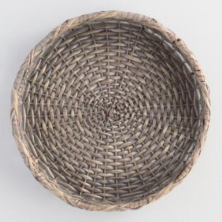 Round Rattan Serving Tray Tyres2c