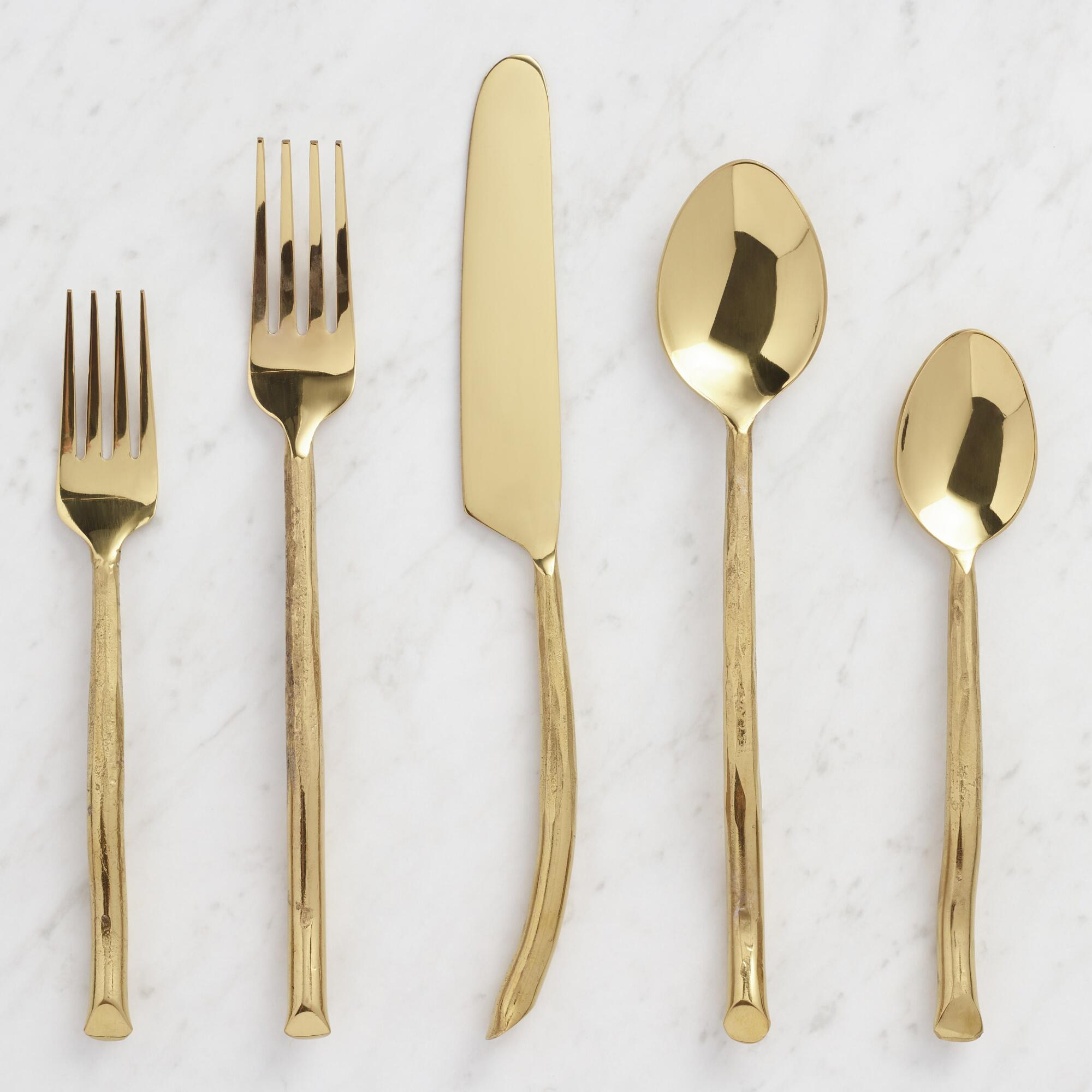 Gold Twig Flatware Collection by World Market