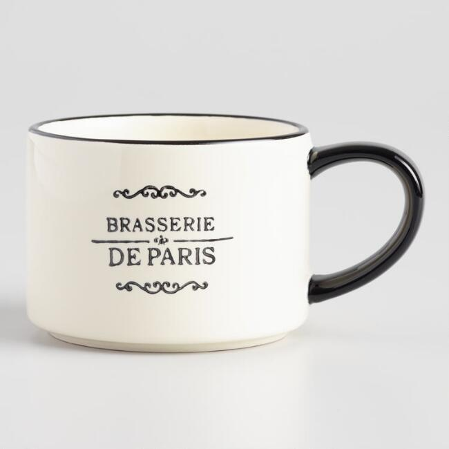 Brasserie Stacking Mugs Set Of 4