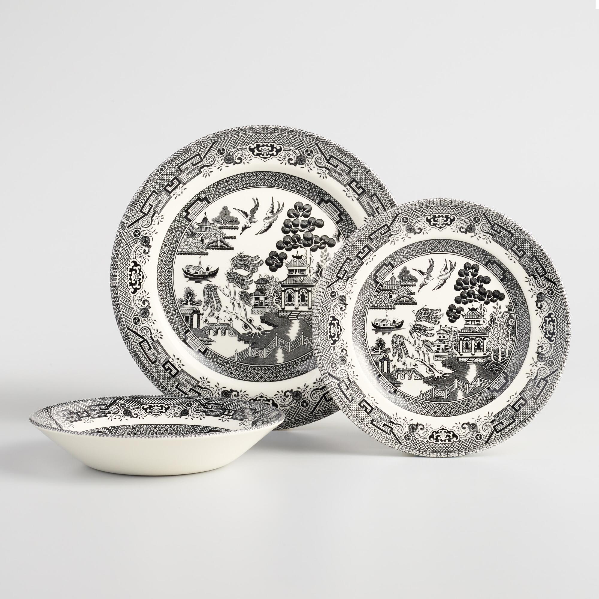 Black Willow Chinoiserie Dinnerware Collection by World Market