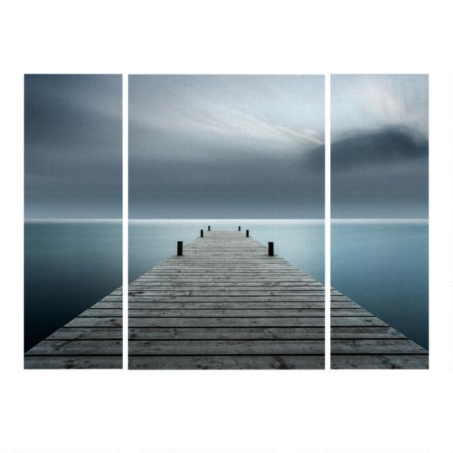 Overlooking Water Triptych Canvas Wall Art 3 Piece