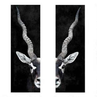 Wall art by subject modern paintings maps kitchen art world market antelope portrait diptych canvas wall art set of 2 gumiabroncs Images