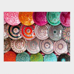 Wall art under 100 world market colorful artisan plates canvas wall art gumiabroncs Choice Image