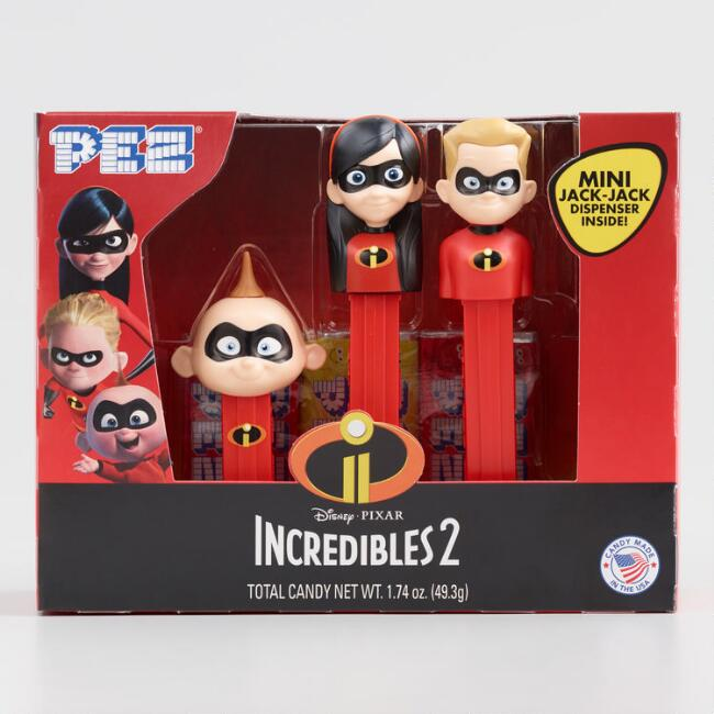 Incredibles 2 Pez Dispensers and Candy 3 Pack
