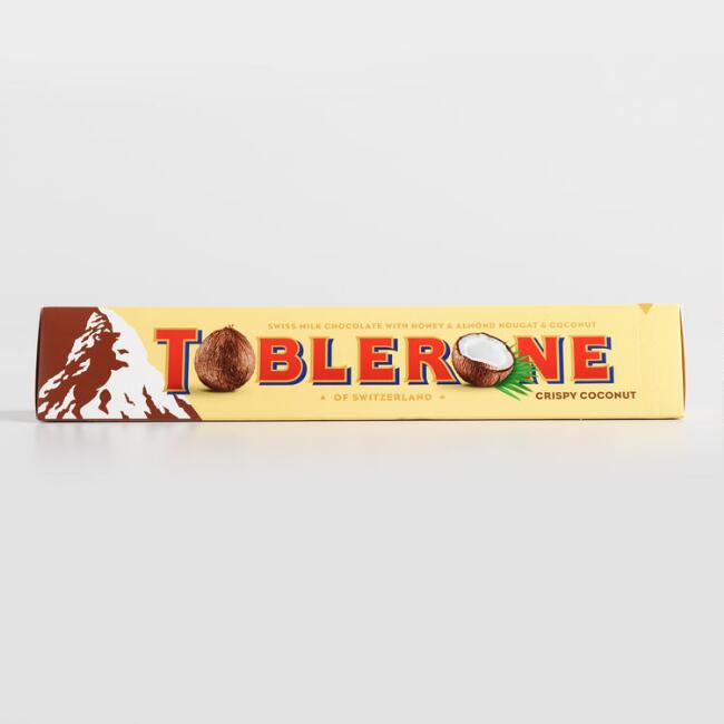 Giant Toblerone Crispy Coconut Milk Chocolate Bar