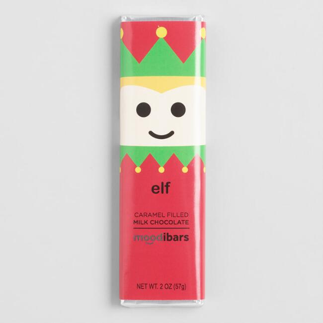 Moodibar Elf Caramel Filled Milk Chocolate Bar Set of 6