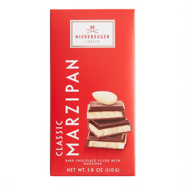 Niederegger Classic Marzipan Dark Chocolate Bar Set of 2