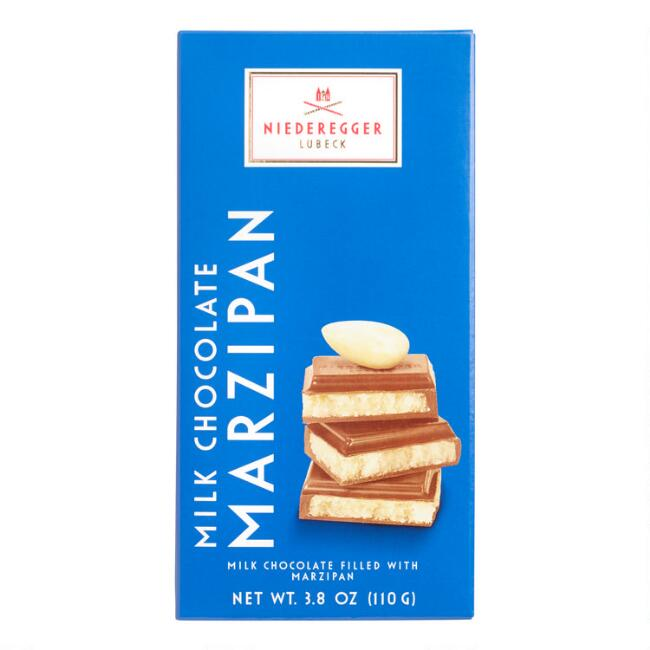 Niederegger Classic Marzipan Milk Chocolate Bar Set of 2