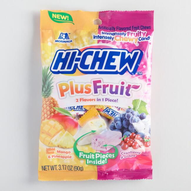 Hi-Chew Plus Fruit Chewy Candy Set of 12