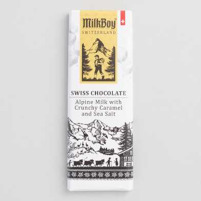 MilkBoy Mini Sea Salt Caramel Milk Chocolate Bar Set of 5