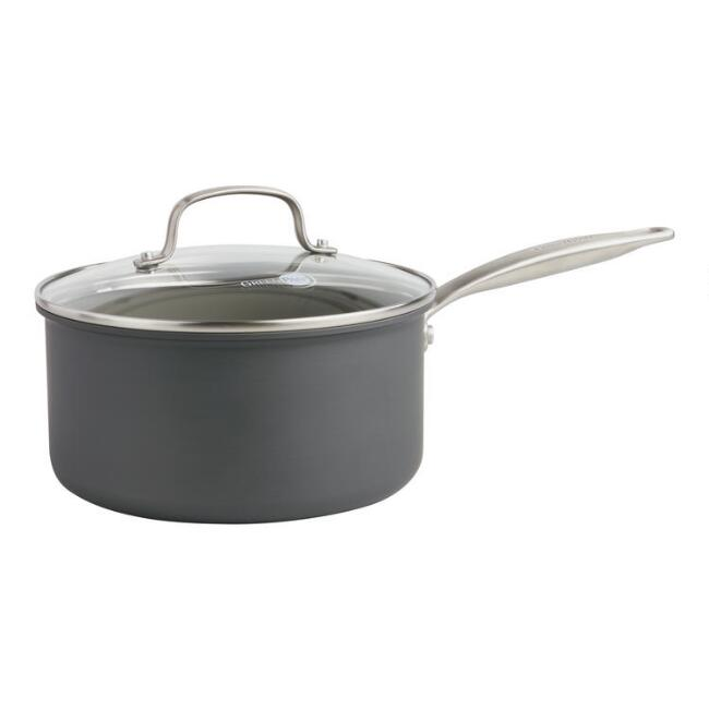 3 Quart GreenPan Chatham Nonstick Ceramic Saucepan with Lid