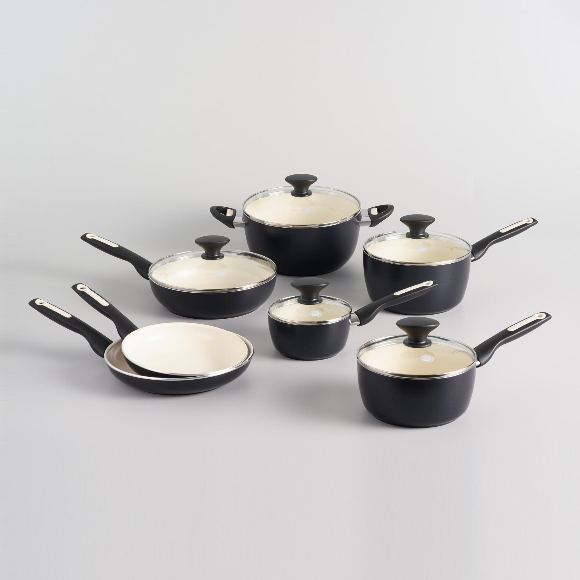 Black GreenPan Rio 12 Piece Nonstick Ceramic Cookware Set by World Market