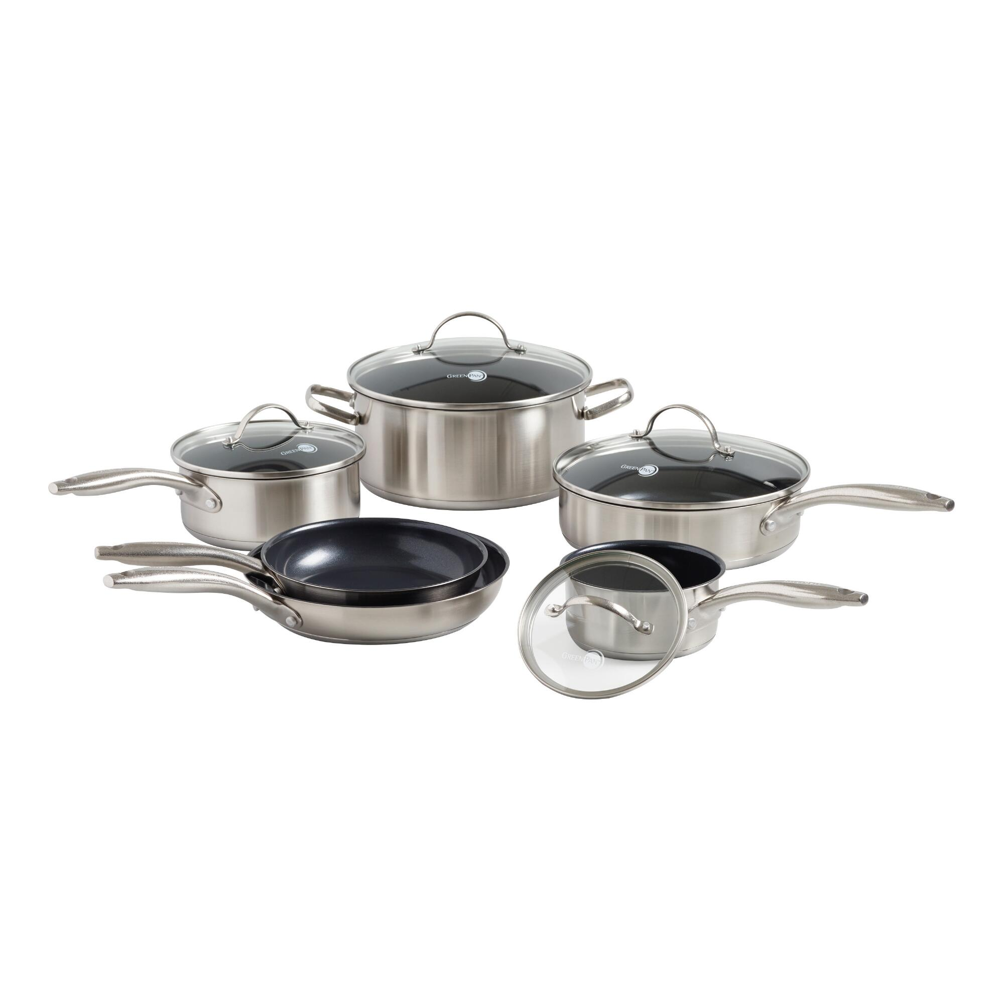 GreenPan Marina 10 Piece Nonstick Ceramic Cookware Set by World Market
