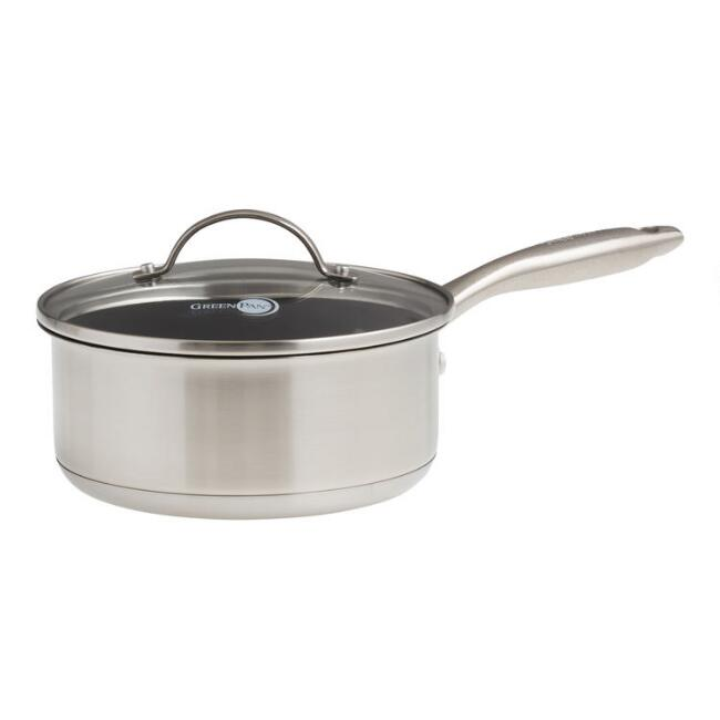 2 Quart GreenPan Marina Nonstick Ceramic Saucepan with Lid